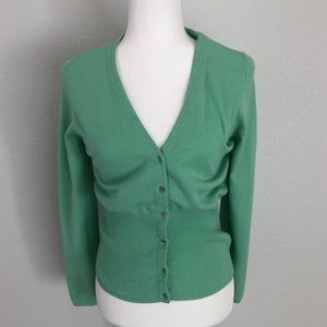 "Caslon 3/4"" Cardigan Seafoam Green Large"